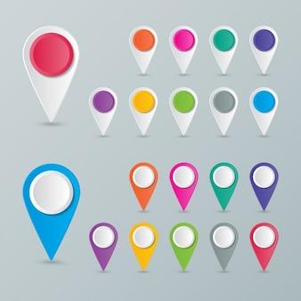 Punkty kolory pozycji na mapach