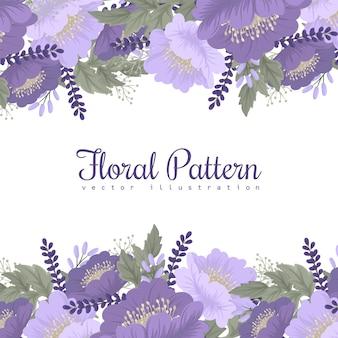 Purpura kwiat na białym tle