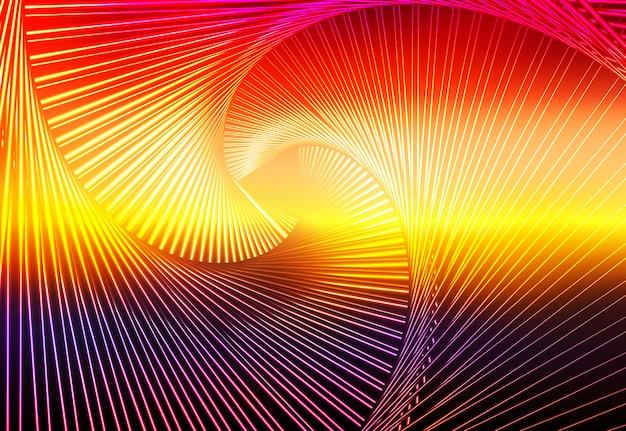 Purpurowa pomarańczowa żółta czerwona brown rozjarzona spirala