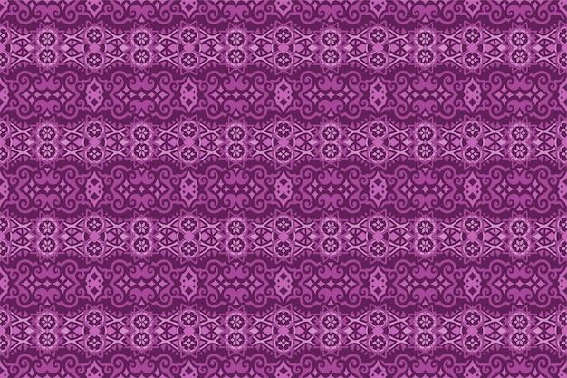 Purpurowa sztuka z abstrakcjonistycznym orientalnym bezszwowym wzorem