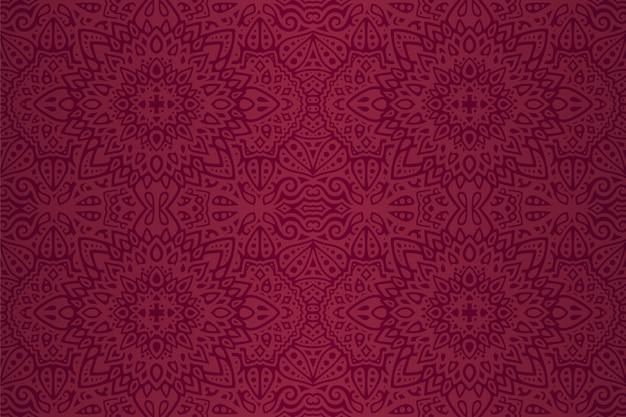 Purpurowa sztuka z wschodnim abstrakcjonistycznym bezszwowym wzorem