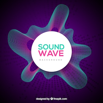 Purpurowe fale dźwiękowe tła