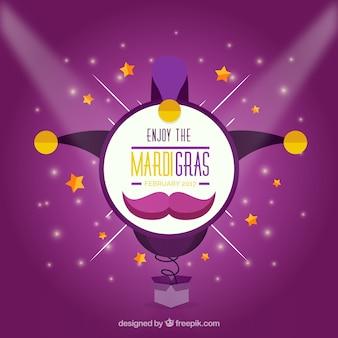 Purpurowe tła mardi gras karnawałowe kapelusz