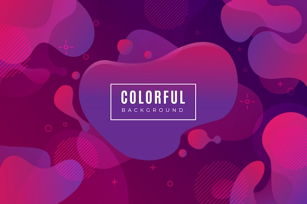Purpurowe tło gradientowe z płynnych kształtów