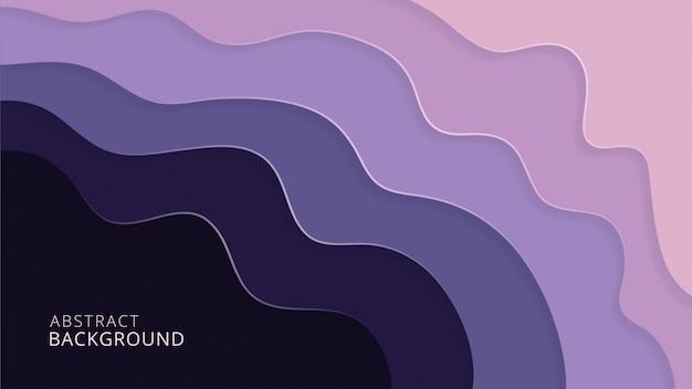 Purpurowy abstrakcjonistyczny elegancki papercut tło projekt