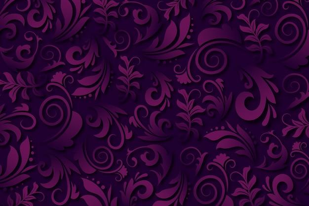 Purpurowy abstrakcjonistyczny ornamentacyjnych kwiatów tło