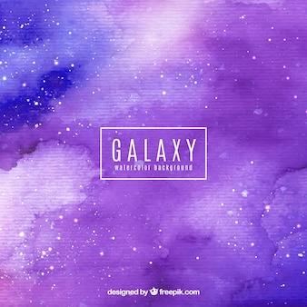 Purpurowy akwarelowy galaktyki tle