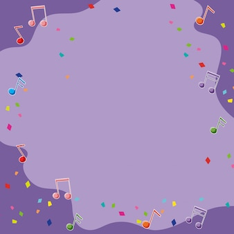 Purpurowy backgroud z muzykalnymi notatkami