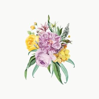 Purpurowy bukiet kwiatów