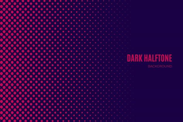 Purpurowy ciemny halftone tło