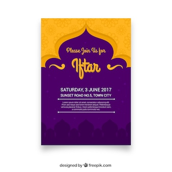 Purpurowy i żółty iftar