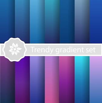 Purpurowy modny zestaw ultrafioletowy