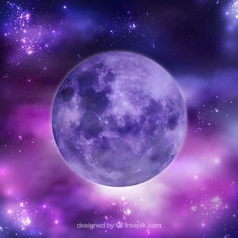 Purpurowy planeta tła