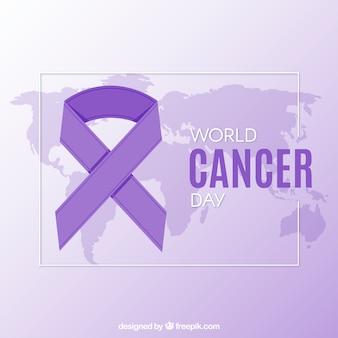 Purpurowy światowy nowotwór dnia tło