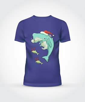 Purpurowy t-shirt wale design