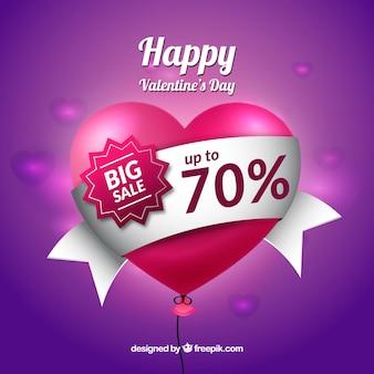 Purpurowy tło dla valentines dzień sprzedaży