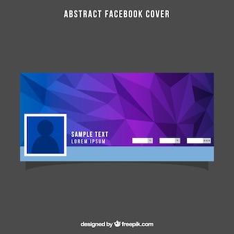 Purpurowy wielokątny facebook cover