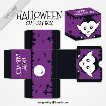 Purpurowy wycięty pudełko z wampirem