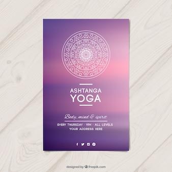 Purpurowy yoga wydruku