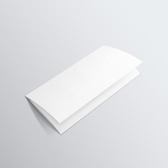 Pusta biała broszura potrójna broszura ulotka zygzak składany ulotki