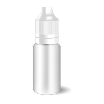 Pusta biała butelka vape ciekłego zakraplacza.