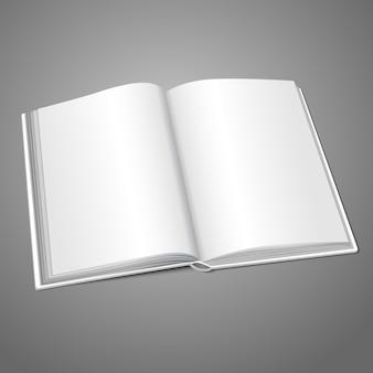 Pusta biała otwarta książka lub album ze zdjęciami na wiadomości, koncepcje projektowe, zdjęcia itp.