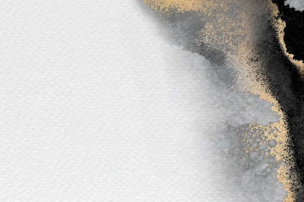 Pusta biała złota rama