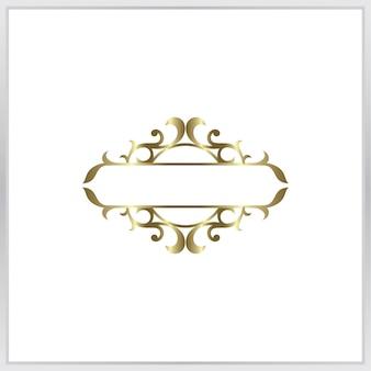 Pusta fotografia ikona frmae. złoty ornament