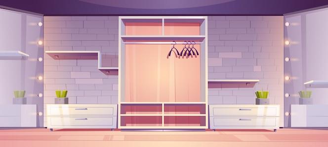Pusta garderoba nowoczesne wnętrze garderoby