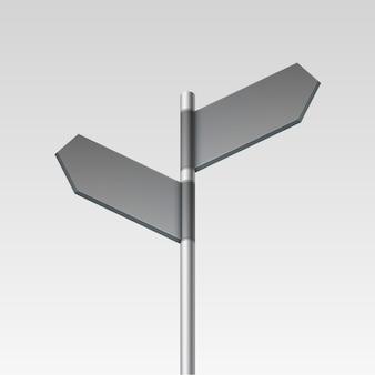 Pusta ikona strzałki znak drogowskaz na tle