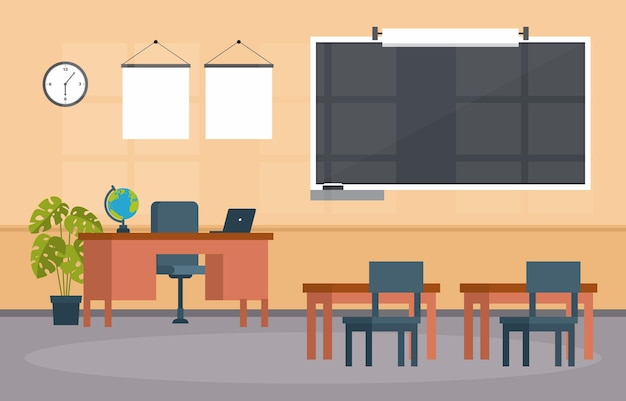 Pusta klasa edukacja podstawowa klasa liceum nikt nie ilustracja