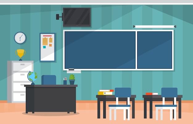 Pusta klasa edukacja wewnętrzna klasa liceum nikt nie ilustracja
