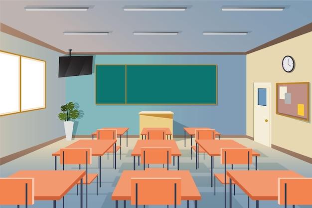 Pusta klasa szkolna - tło do wideokonferencji