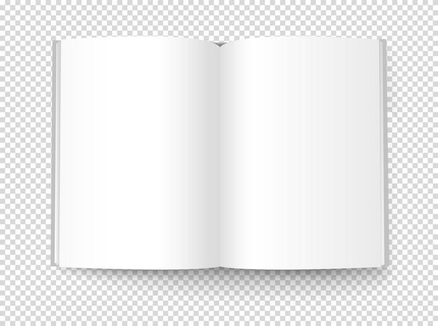 Pusta książka. na przezroczystym tle
