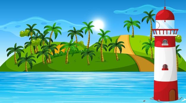 Pusta natura plaży oceanu przybrzeżny krajobraz