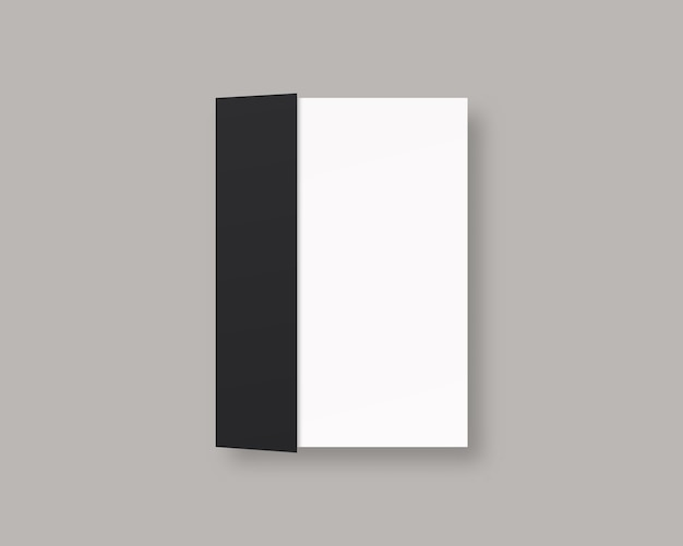 Pusta okładka magazynu lub książki. realistyczna zamknięta książka. odosobniony. projekt szablonu realistyczna ilustracja.