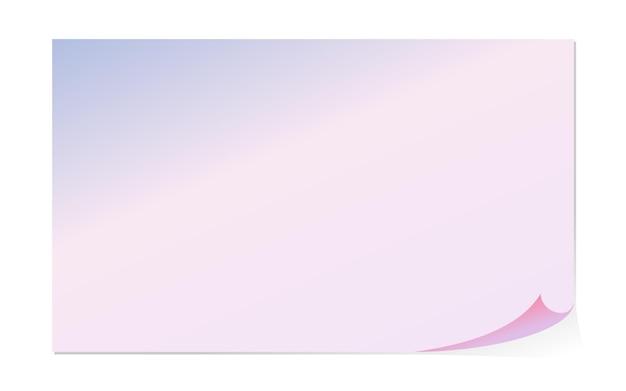 Pusta pozioma makieta strony o rozmiarze zakrzywionym narożnym arkuszu papieru w orientacji poziomej lub