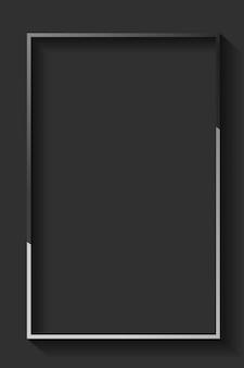 Pusta prostokątna czarna ramka abstrakcyjna