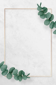 Pusta prostokątna ramka eukaliptusowa