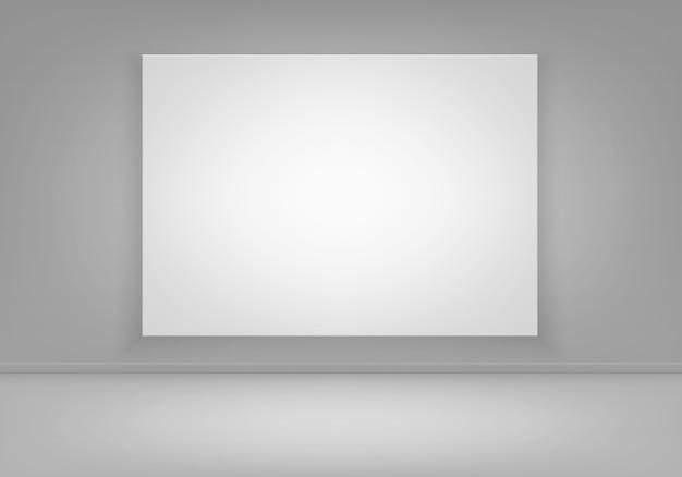 Pusta pusta biała ramka na zdjęcia plakat na ścianie z widokiem na podłogę