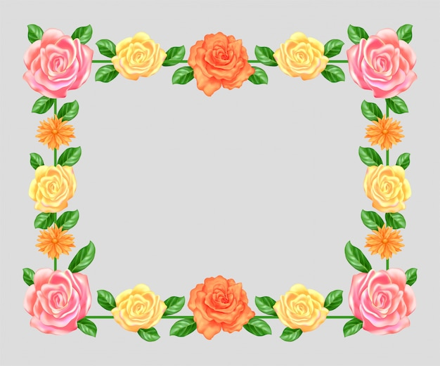 Pusta rama kwiatowy