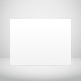 Pusta rama obrazu na białym pokoju