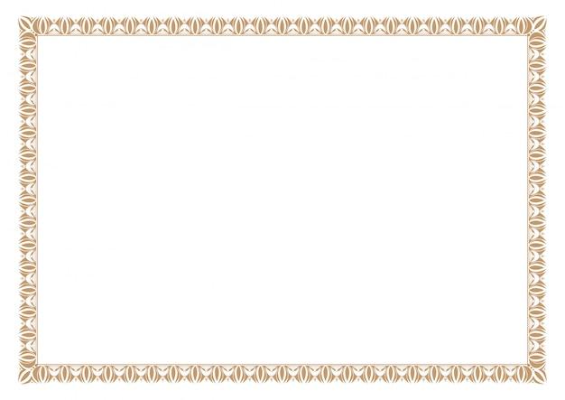 Pusta ramka certyfikatu, gotowe dodać tekst, w kolorze złotym