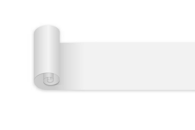 Pusta rolka papieru ilustracja na białym tle