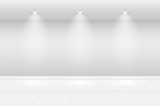 Pusta sala wystawowa hall of frame