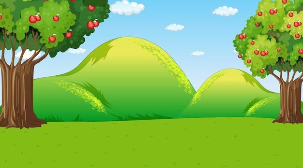 Pusta scena krajobraz park przyrody w ciągu dnia