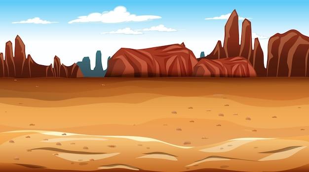 Pusta scena krajobrazu lasu pustynnego