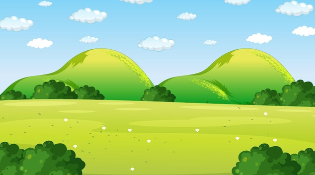 Pusta scena krajobrazu parku przyrody w ciągu dnia