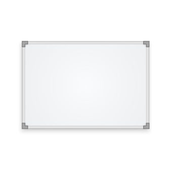 Pusta tablica na białym tle
