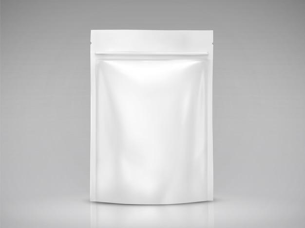 Pusta torba foliowa, białe opakowanie do zastosowań w ilustracji